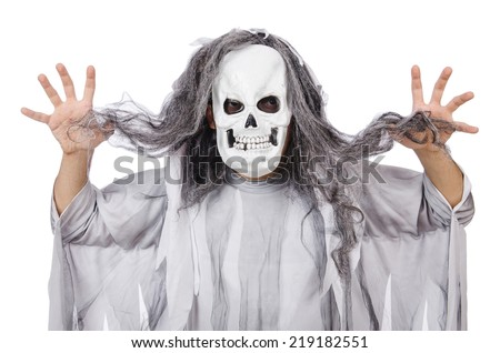 Scary man in halloween concept