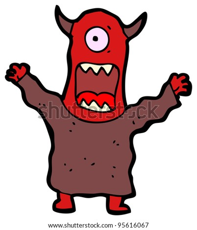 scary monster cartoon