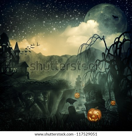 Scary Movie. Abstract halloween backgrounds for your design - stock photo