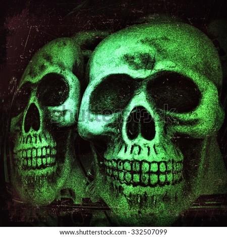ghost skull smiling ghost background skull stock illustration