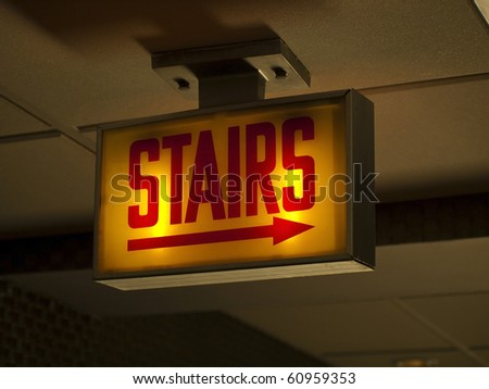 Scary Stairs Sign