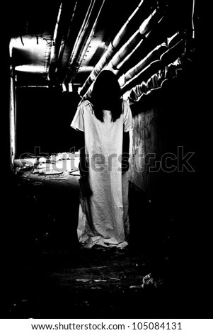 Scary woman - stock photo
