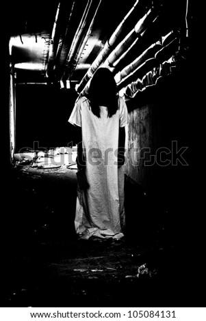 Scary woman - stock photo