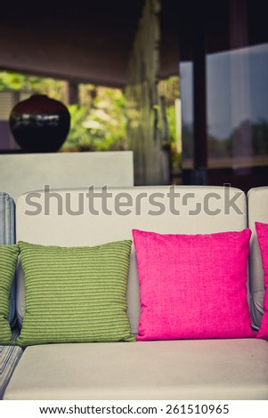 scatter cushion - stock photo
