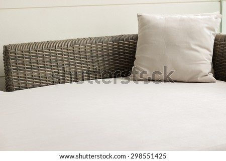 scatter cushion on day bed on natural light