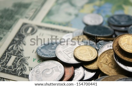Scattered money - stock photo