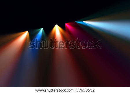 Scene bright light - stock photo