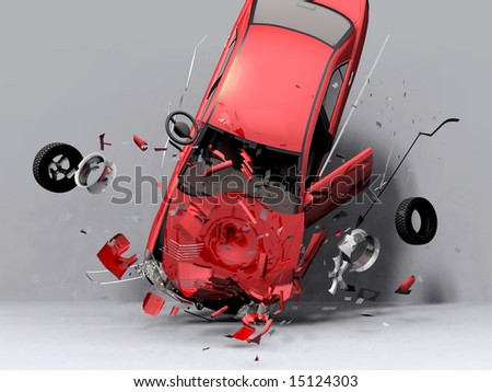 scene fall of the car - stock photo