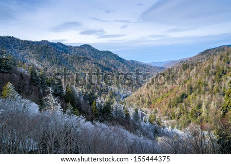 Scene from the Smoky Mountains National Park - stock photo