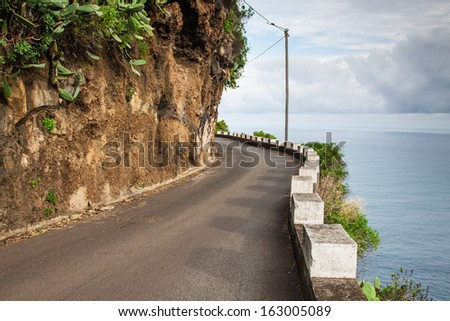 scene in portugal / island of madeira - stock photo