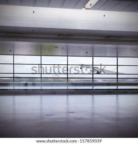 scene of airport building  china - stock photo
