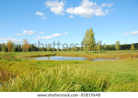 scene of beautiful autumn sight - stock photo