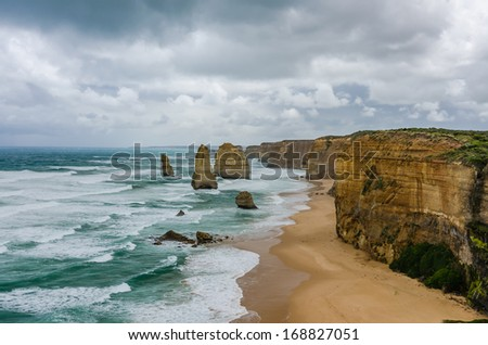Scene of Great Ocean Road - Australia - stock photo