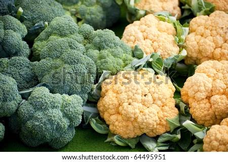 scene on a farmers market in autumn - stock photo