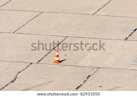 Scene on an airport - stock photo