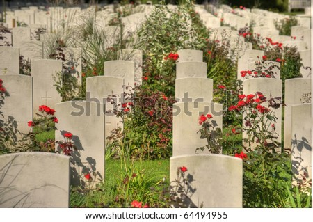 scene on an old graveyard - stock photo