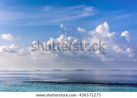 scene with an idyllic landscape in Maldives
