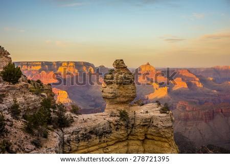 scenery around grand canyon in arizona - stock photo