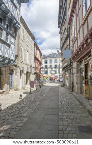 Scenery at Quimper, a commune and capital of the Finistere department of Brittany in northwestern France.