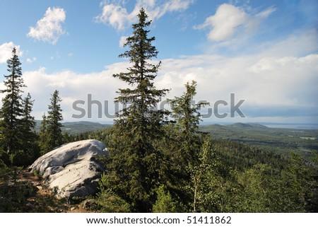 Scenery from Koli national park, Finland - stock photo