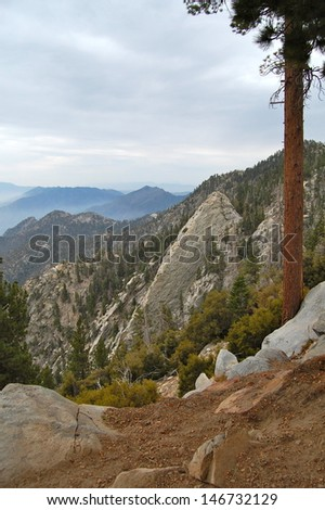 Scenery from Mt. San Jacinto - stock photo