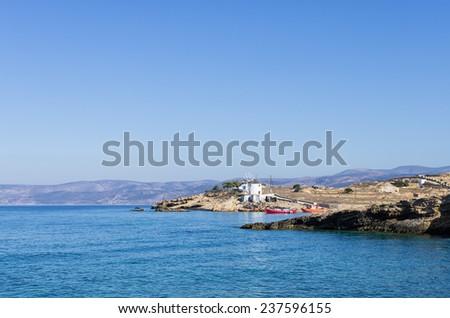 Scenery in Ano Koufonisi island, Cyclades, Greece - stock photo