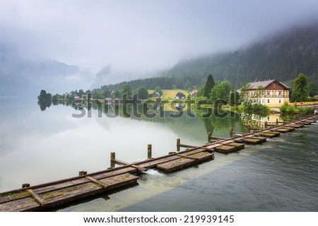 Scenery of Alps mountains in cloudy day, Austria - stock photo