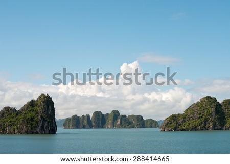 Scenery of Halong Bay, Vietnam - stock photo