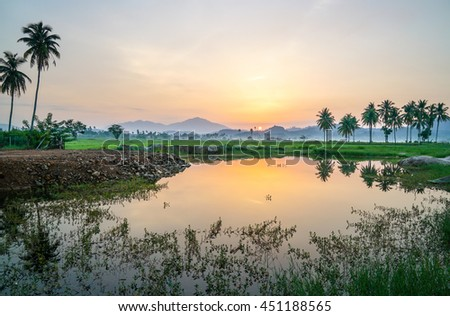 Scenery of the countryside in Malaysia