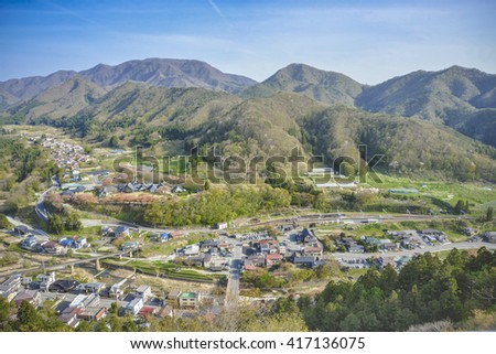 Scenery of the village in Northeastern Japan