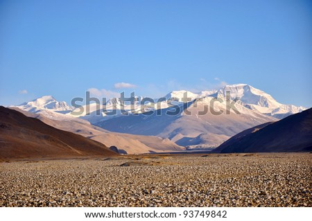 Scenery of Tibet, the Himalayas - stock photo