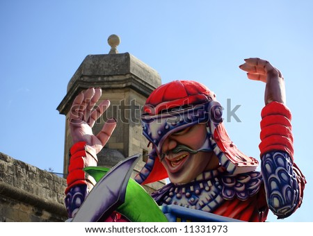Scenes and details from the International Carnival of Malta 2008 - stock photo