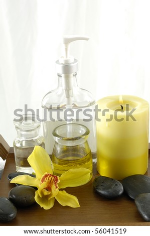 scenes of relaxation and body treatment - stock photo