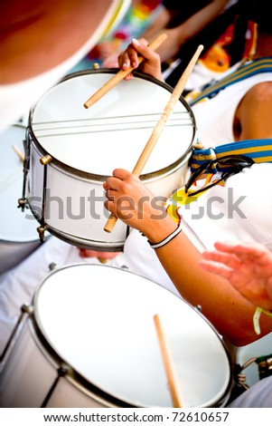 Scenes of Samba Festival in Coburg, Germany - stock photo