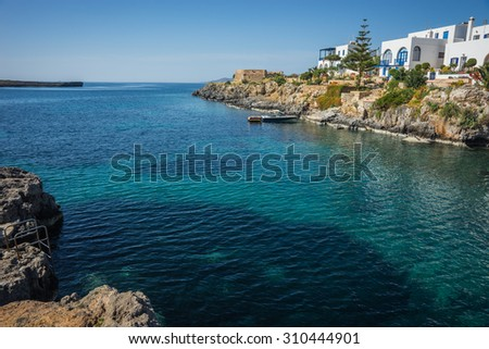 Scenic and beautiful landscape with seaview, Kythira, Greece