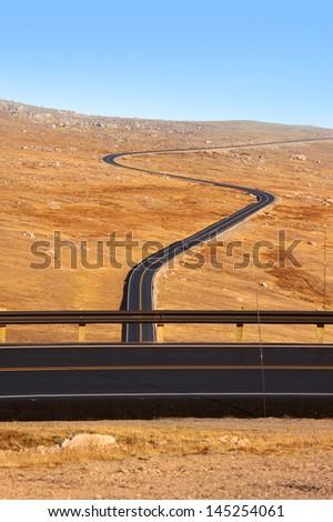 Scenic Beartooth high way - stock photo