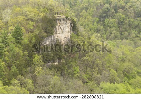 Scenic Bluff In Spring - stock photo