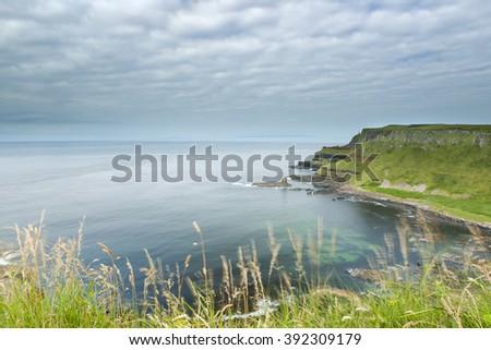 Scenic coastal near Giant's Causeway, Northern Ireland - stock photo