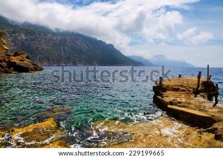 Scenic coastline of Mallorca, Spain - stock photo