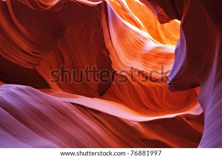 Scenic color slot canyon Antelope. Navajo Reservation, USA
