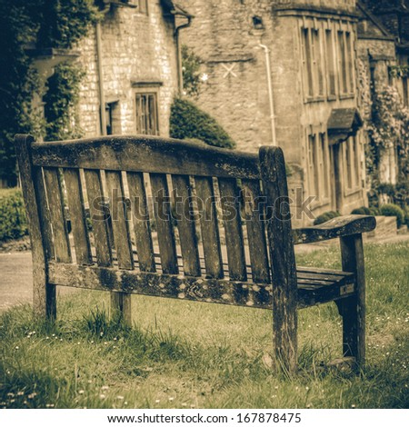 Scenic Cotswolds - Burford - stock photo