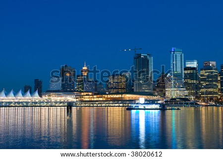 Scenic Downtown Vancouver - stock photo