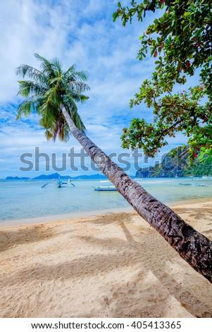 Scenic El-nido, Palawan, Philippines - stock photo