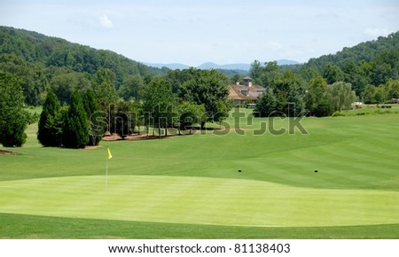 Scenic golf course north Georgia Usa