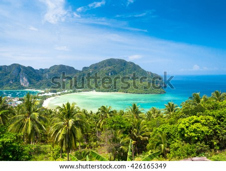 Scenic  Holidays Exotic Backdrop  - stock photo