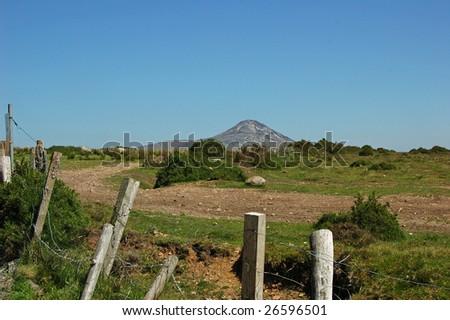 Scenic irish landscape in Wicklow - stock photo