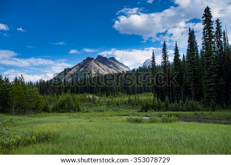 Scenic Kananaskis country in the summer time, Alberta Canada  - stock photo
