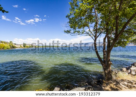 Scenic Lake Okanagan, BC, Canada - stock photo