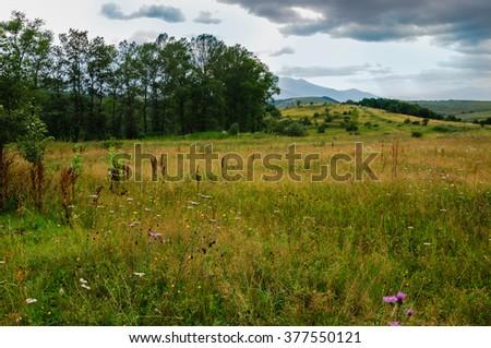 Scenic landscape, Armenia - stock photo