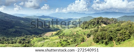 Scenic Landscape at Phu Chi Fa, North Thailand - stock photo